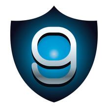 Nine Number On Blue Shield