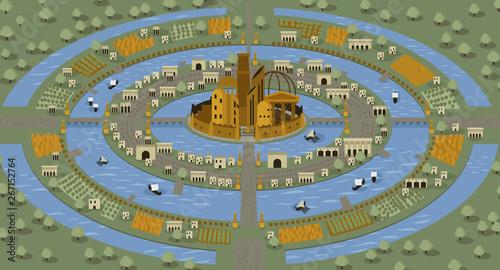atlantis circles islands lost civilization Wallpaper Mural