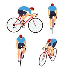 Fast Road Biker Set From Diffe...