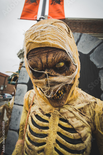 Fotografering halloween mummy scary face and eyes