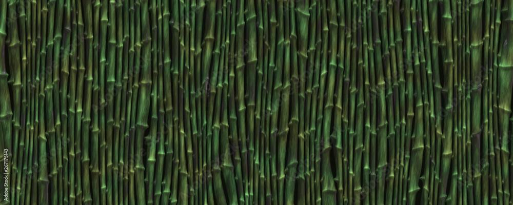 3d illustration distortion bamboo background