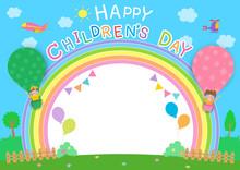 Children's Day Rainbow Frame