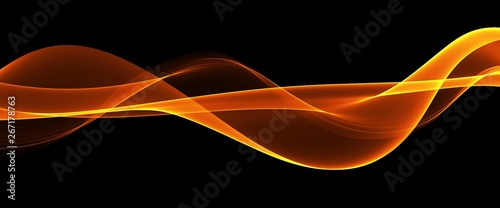 Obraz Abstract orange waves background. Template design - fototapety do salonu