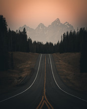 Road In Grand Teton Mountains