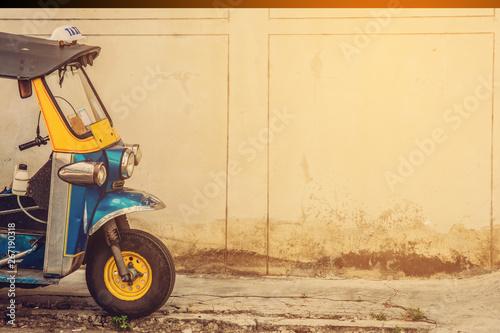 Auto rickshaw and copy space Fototapeta