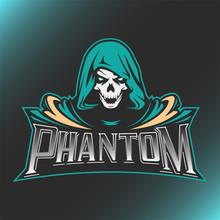 Skull Phantom Logo Mascot Vect...