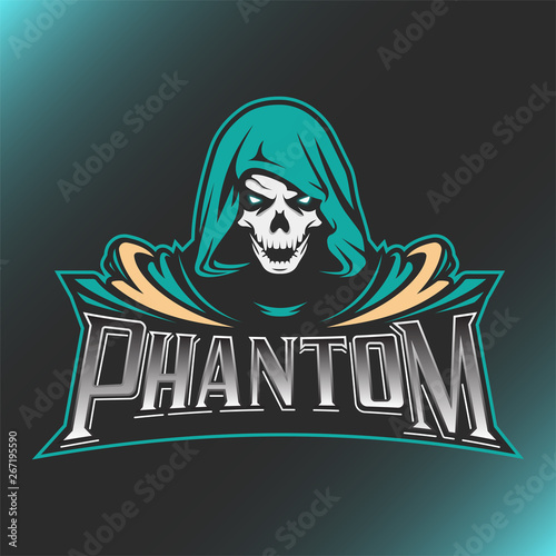 Photo Skull Phantom Logo Mascot Vector Illustration