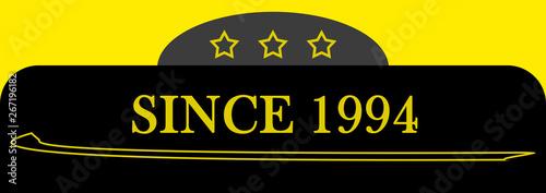 Fotografia  Since 1994 sign logo emblem symbol