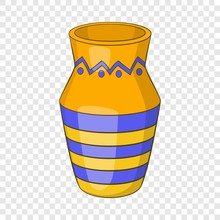 Egyptian Vase Icon. Cartoon Illustration Of Vase Vector Icon For Web Design