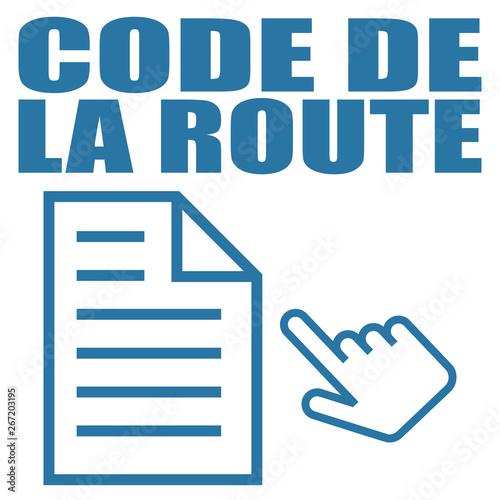 Photo  Logo code de la route.