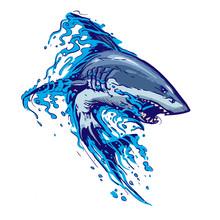 Aggressive Shark Jump Attack I...