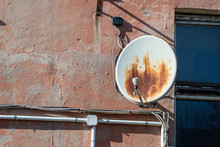 Rusty Satellite Dish In The Ho...