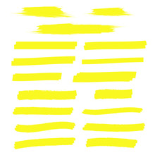 Yellow Marker Text Selection. ...