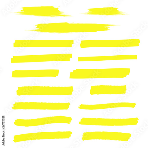 Cuadros en Lienzo yellow marker text selection