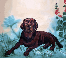 Wall Painting - The Dog Lies I...