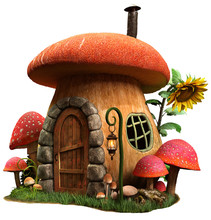 Mushroom House And Sunflower 3...