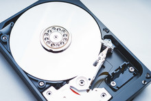 Components For PC. Open Hard Disk Storage.