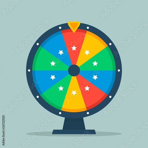 Wheel of fortune vector illustration of a flat Tableau sur Toile