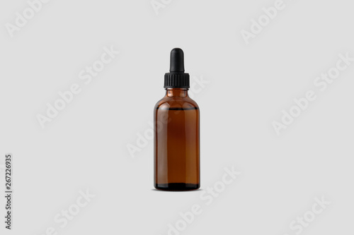 Fotografering Amber Bottle for essential oils and cosmetic products