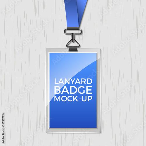 Lanyard badge id card template Tableau sur Toile