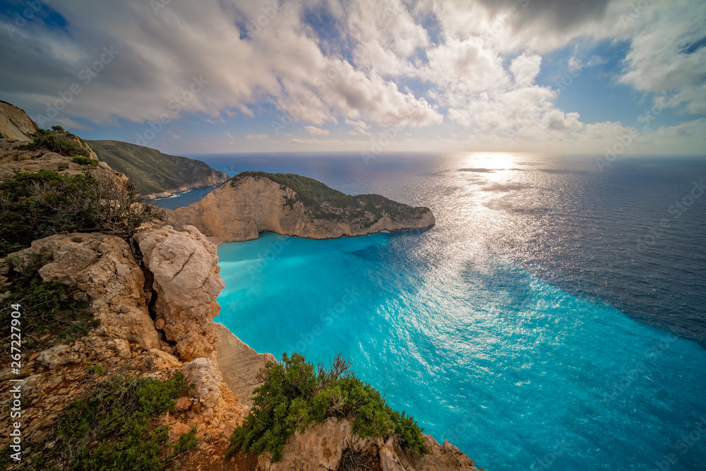 Fototapeta Stunning view of the cliffs in Shipwreck Cove