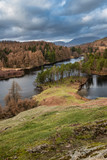 Stunning evening landscape image of Tarn Hows in UK Lake District during Spring - 267228942
