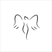 Angel Icon Vector Line Illustration