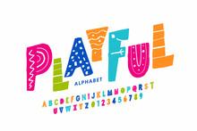 Playful Style Font Design, Chi...
