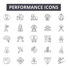 Performance Line Icons, Signs,...