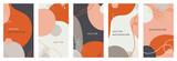 Wektor zestaw abstrakcyjnych kreatywnych środowisk w minimalistycznym modnym stylu z miejscem na tekst - szablony projektów dla opowiadań w mediach społecznościowych