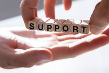 Person Giving Support To Other Person