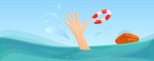 Swimming Take Help Life Buoy C...