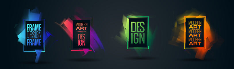Vector frame Art graphics for hipsters . dynamic frame stylish geometric black