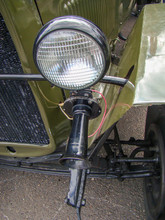 Antique Passenger Car. Green, ...