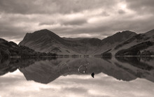 Buttermere Lake UK With Mountain Reflections