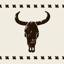 Vector Black Skulls Buffalo