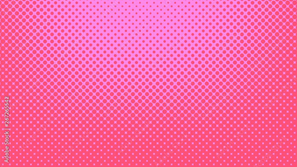 Purpurowy i różowy tło pop-artu w stylu retro komiks z kropkami rastra, ilustracji wektorowych tła z pojedynczymi kropkami