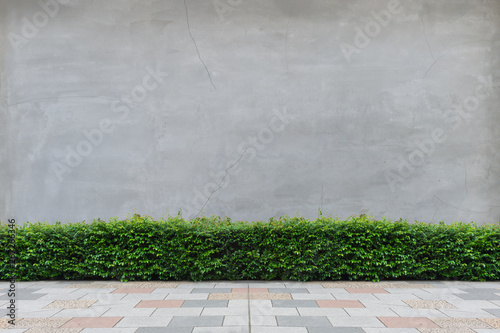 Fotografiet street wall background ,Industrial background, empty grunge urban street with wa