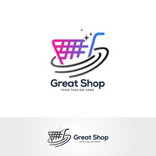 Shopping Logo Design Vector, S...