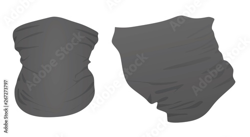Fotografia Robber neck scarf. vector illustration