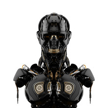 Mechanical Robotic Bust, 3d Re...