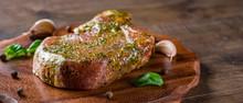 Raw Pork Loin Chops Marinated ...
