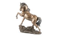 Bronze Horse Statuette On White