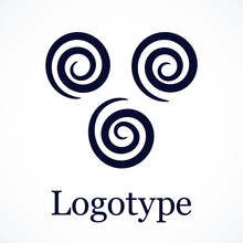 Spirals Pattern, Contour Design. May Be Used As Logo. Vector.
