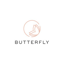 Butterfly Line Logo Design