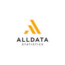 A Letter For Statistic Data Symbol Vector Logo Design