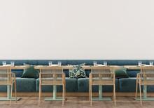 Сafe Interior With Soft Blue ...