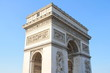 Triumphal Arch, one of the most famous monuments in Paris, France