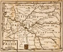 Old Map Of The Paris Region. V...