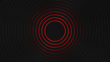 Grey And Red Cirlces Modern Background 3d Render